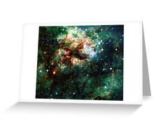 Tarantula Nebula Double Metatron's Cube [Christmas Tree] Greeting Card