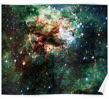 Tarantula Nebula Double Metatron's Cube [Christmas Tree] Poster