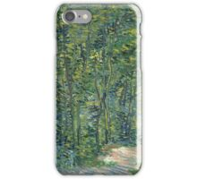Vincent Van Gogh - Path In The Woods. Forest view: forest , trees,  fauna, nature, birds, animals, flora, flowers, plants, field, weekend iPhone Case/Skin