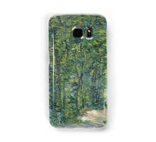 Vincent Van Gogh - Path In The Woods. Forest view: forest , trees,  fauna, nature, birds, animals, flora, flowers, plants, field, weekend Samsung Galaxy Case/Skin