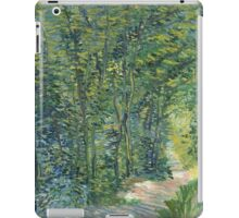 Vincent Van Gogh - Path In The Woods. Forest view: forest , trees,  fauna, nature, birds, animals, flora, flowers, plants, field, weekend iPad Case/Skin
