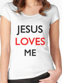 Jesus loves me Women's Fitted Scoop T-Shirt