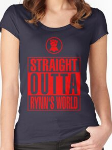Straight Outta Rynn's World Women's Fitted Scoop T-Shirt
