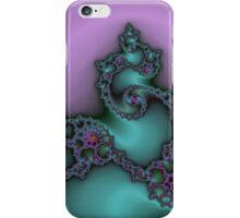 Fractal Green & Purple iPhone Case/Skin