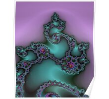Fractal Green & Purple Poster