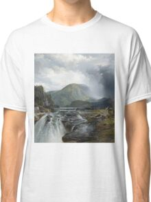 Thomas Moran - The Wilds Of Lake Superior. Mountains landscape: mountains, rocks, rocky nature, sky and clouds, trees, peak, forest, rustic, hill, travel, hillside Classic T-Shirt