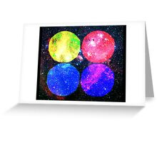 Four Bright Suns Greeting Card