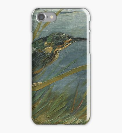 Vincent Van Gogh - Kingfisher By The Waterside. Bird painting: cute fowl, fly, wings, lucky, pets, wild life, animal, birds, little small, bird, nature iPhone Case/Skin