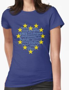 Friends with Europe Womens Fitted T-Shirt