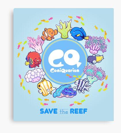 ComiQuarium Marine Life ver. Safe the Reef Canvas Print