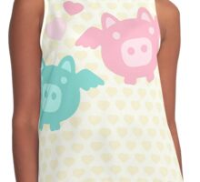 Pastel Flying Pigs in Love Contrast Tank