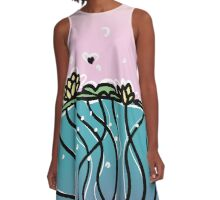 Underwater Lilies A-Line Dress
