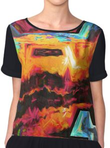 Colorful texture Chiffon Top