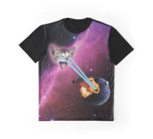 Laser Cat, Destroyer of Planets Graphic T-Shirt
