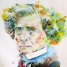 HECTOR BERLIOZ - watercolor portrait by lautir
