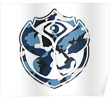 Tomorrowland Camouflage logo - Water Poster