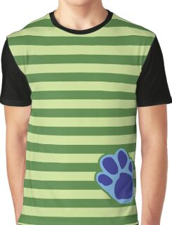 Steve Stripes w/ Paw Print Design Graphic T-Shirt