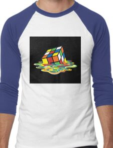 Melting Rubix Cube Men's Baseball ¾ T-Shirt