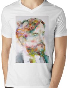 CLAUDE DEBUSSY - watercolor portrait Mens V-Neck T-Shirt