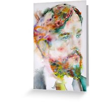 CLAUDE DEBUSSY - watercolor portrait Greeting Card