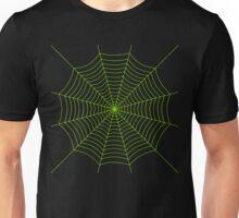 Neon green spider web Unisex T-Shirt