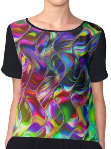 Psychedelic Mirror Waves Chiffon Top