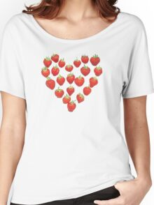 I Love Strawberries Women's Relaxed Fit T-Shirt