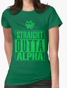 Straight Outta Alpha Womens Fitted T-Shirt