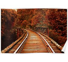 Long Way Home Train Tracks Poster