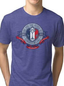 People of Tomorrowland Vintage Flags logo - France - francais Tri-blend T-Shirt