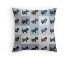 Fifty Shades of Grey Scottie Dogs (25 shades actually) Throw Pillow