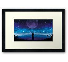 Deep Sky Darkness Framed Print