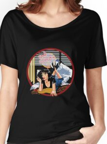 Pulp Fiction - Blue Mia@Jack Rabbits Variant Women's Relaxed Fit T-Shirt