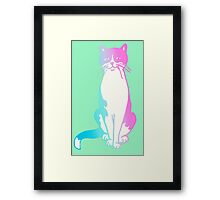 pastel kitty Framed Print