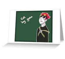 Jack spicer, evil boy genius Greeting Card
