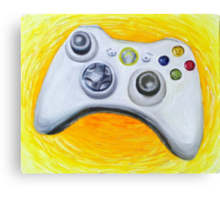 XBOX 360 Controller Impressionist Painting Canvas Print