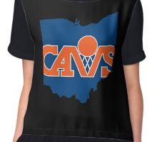 Cleveland Cavs V Chiffon Top