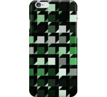 green repeating cube pattern iPhone Case/Skin