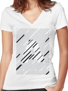 A is Broken Women's Fitted V-Neck T-Shirt