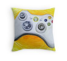 XBOX 360 Controller Impressionist Painting Throw Pillow