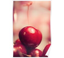 Sweet Red Cherry Poster
