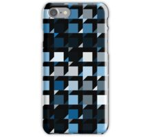 blue repeating cube pattern iPhone Case/Skin