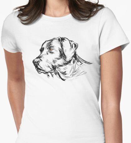Labrador Retriever Womens Fitted T-Shirt