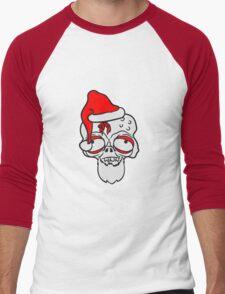 weihnachten santa klaus weihnachtsmann geschenke kopf gesicht nikolaus winter zombie lustig untot horror monster halloween  Men's Baseball ¾ T-Shirt