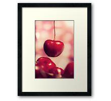 Sweet Red Cherries Framed Print