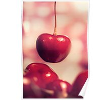 Sweet Red Cherries Poster