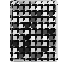 black and white repeating cube pattern iPad Case/Skin