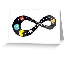 Pacman Retro Mobius Strip Greeting Card