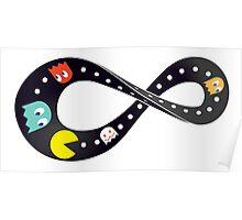 Pacman Retro Mobius Strip Poster