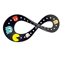 Pacman Retro Mobius Strip Photographic Print